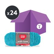 Go to Product: Red Heart With Love Yarn, Santorini (Case of 24 Skeins) in color Santorini