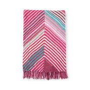 Bernat Book-Match Bias Knit Blanket