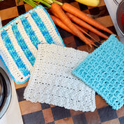 Red Heart Textured Blocks Dishcloth
