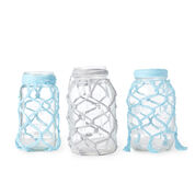 Go to Product: Red Heart Fishnet Jars, Aqua in color