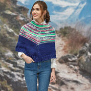 Go to Product: Red Heart Faux Fair Isle Knit Poncho, XS/S in color