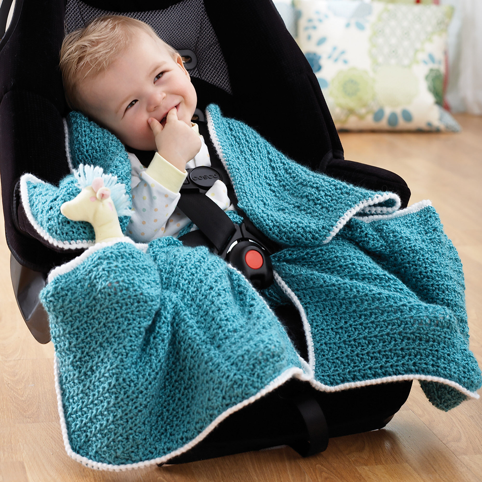 Bernat Car Seat Blanket | Yarnspirations