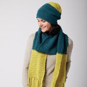 Bernat Color Burst Beanie & Scarf Set