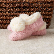 Go to Product: Red Heart Cozy Crochet Trimmed Slippers, 5/6 in color