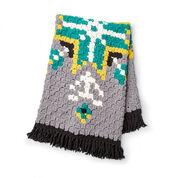 Bernat Geo Folk C2C Crochet Afghan