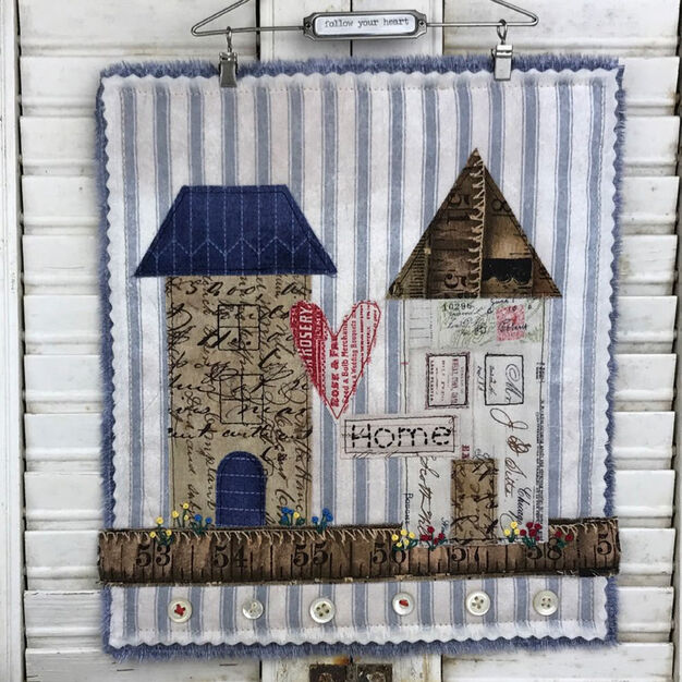 Coats & Clark Follow your Heart Home Wall Hanging
