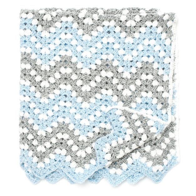 Bernat Ripple Waves Crochet Blanket | Yarnspirations