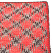 Red Heart Planned Pooling Argyle Throw or Blanket, Blanket Size