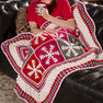 Red Heart Snowflake Throw in color