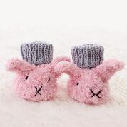 Bernat Itty Bitty Fuzzy Wuzzy Bunny Booties, 3 mos