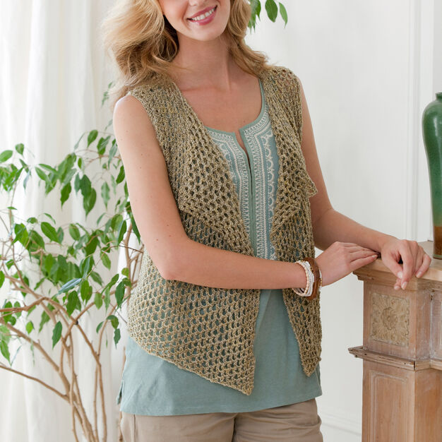 Red Heart Four Seasons Knit Vest, XS in color