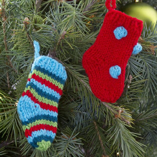 Red Heart Little Knit Stockings
