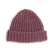 Go to Product: Red Heart Vertical Ridges Crochet Hat for Him in color