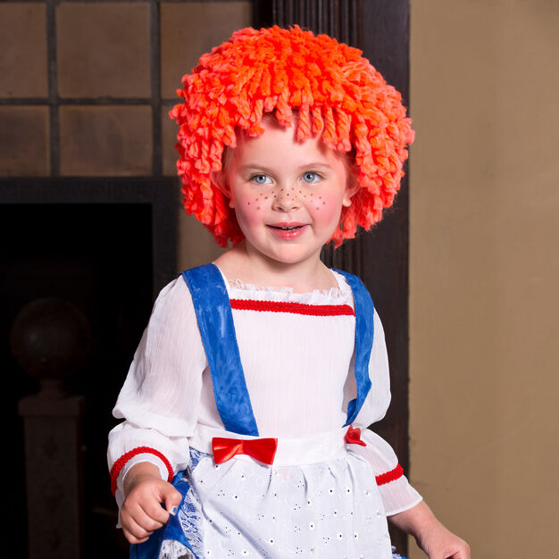 Red Heart Rag Doll Wig, S