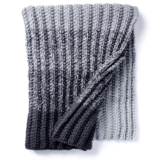 Caron Ombre Ridge Knit Blanket Yarnspirations