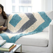 Red Heart Square Upon Square Throw