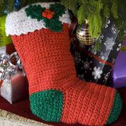 Red Heart Crochet Holly Stocking