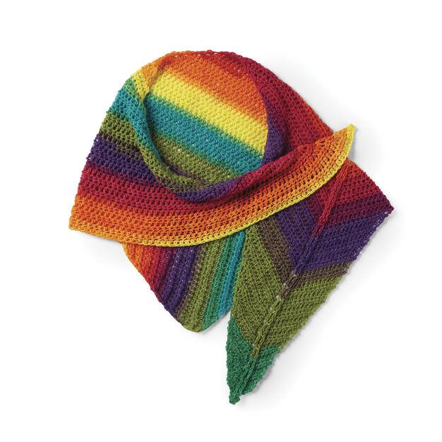 Caron Crochet Rainbow Shawl in color