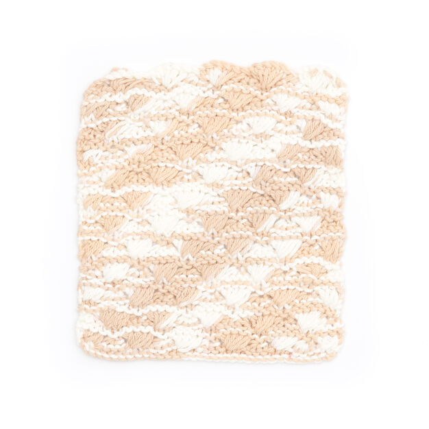 Lily Sugar'n Cream Shell Stitch Dishcloth in color