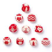 Patons Merry Fair Isle Knit Ornaments