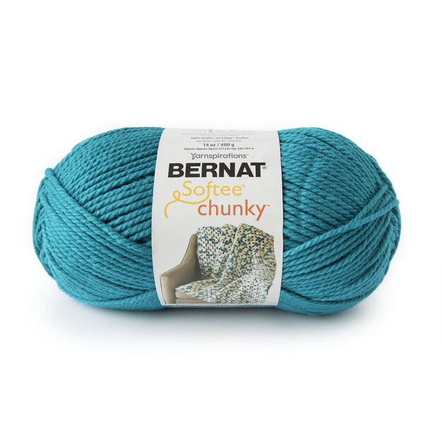 Bernat Softee Chunky Yarn (400g/14oz), Bright Teal - Clearance Shades*