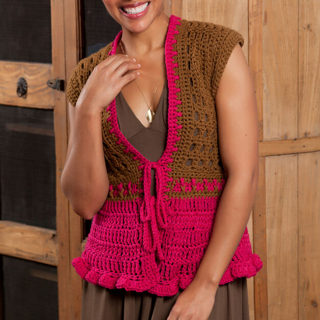 Red Heart Tailored Vest, S in color