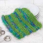 Go to Product: Red Heart Striped Knit Scrubby Dishcloth in color