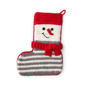 Go to Product: Red Heart Crochet Snowman Stocking in color