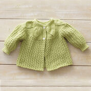 Bernat Leaf and Lace Set, Jacket - 3 mos