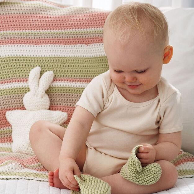 Bernat Striped Baby Blanket, Handicrafter Cotton