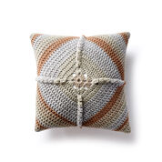 Caron Granny Square Crochet Pillow