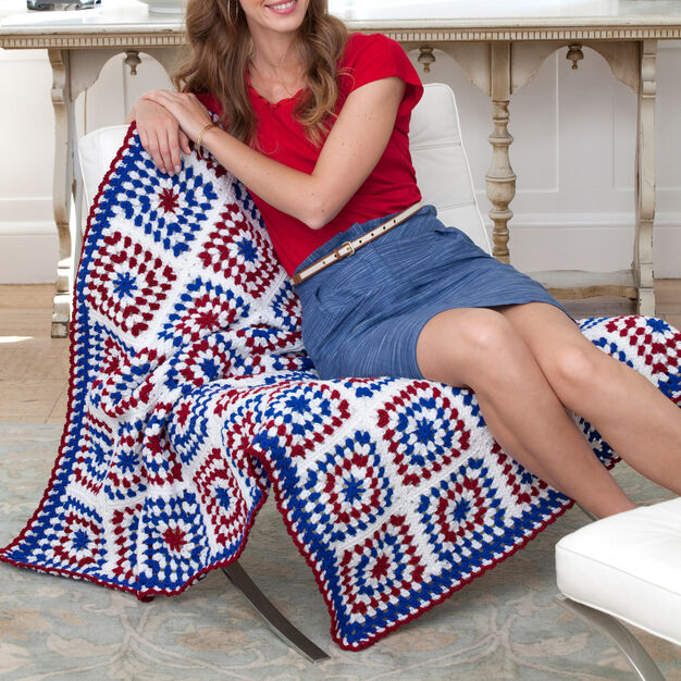 Red Heart Colors of America Throw