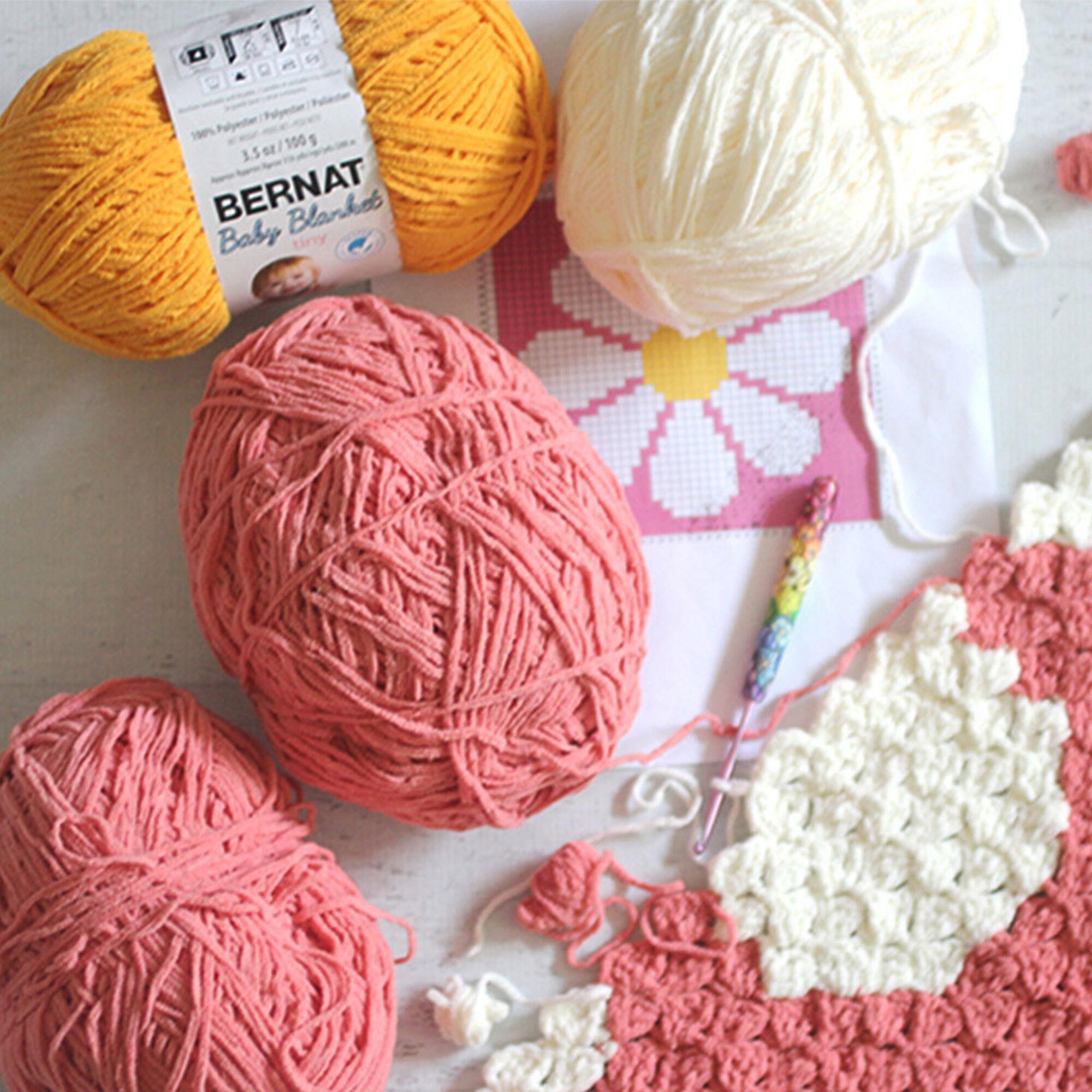 Bernat Daisy C2C Crochet Blanket | Yarnspirations