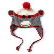 Caron Critter Kits, Monkey Hat, Work Sock Gray