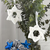 Go to Product: Red Heart White Star of David Ornament in color