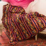 Red Heart Lacy Fall Throw