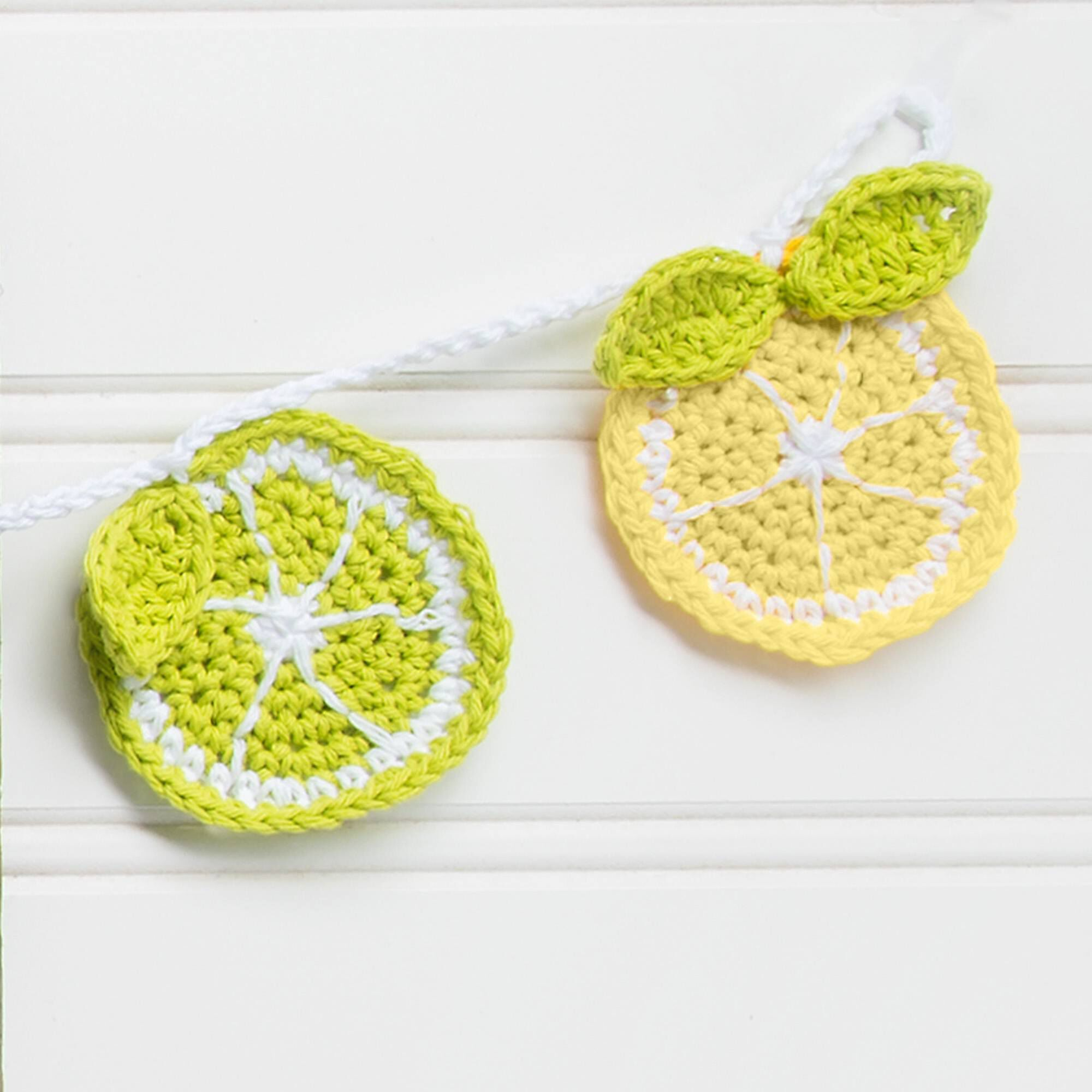 Lily Sugar'n Cream You're the Zest Citrus Crochet Bunting | Yarnspirations