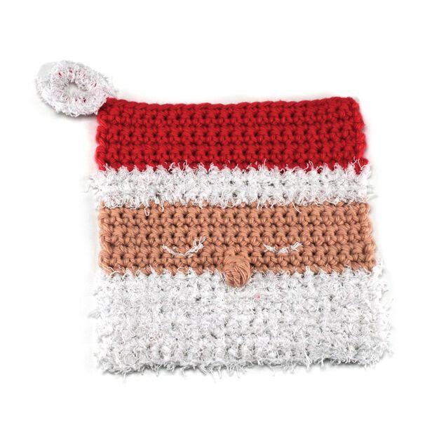 Red Heart Santa Cloth Crochet Dishcloth in color