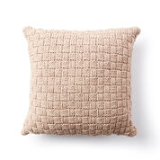 Bernat Basketweave Knit Pillow