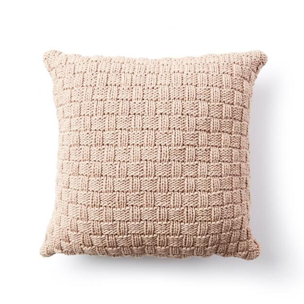 Bernat Basketweave Knit Pillow Pattern Yarnspirations