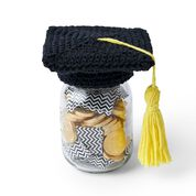 Go to Product: Lily Sugar'n Cream Crochet Graduation Cap Mason Jar Topper in color