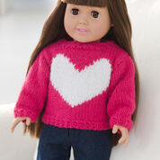 Red Heart Love My Doll Sweater