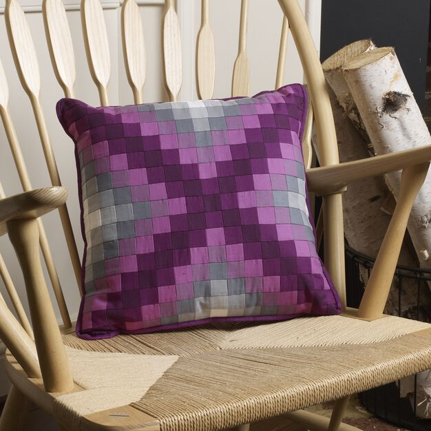 Coats & Clark Purple Pieced Pillow in color