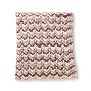 Bernat Warm Ripple Knit Blanket