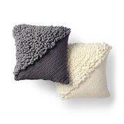 Go to Product: Bernat Alize EZ Loopy Corner Crochet Pillow, Dark Gray in color