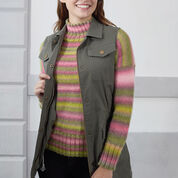 Red Heart Play Misty Stripe Pullover, S