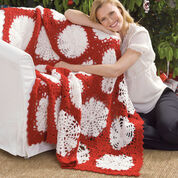 Go to Product: Red Heart Scandinavian Snowflake Throw in color