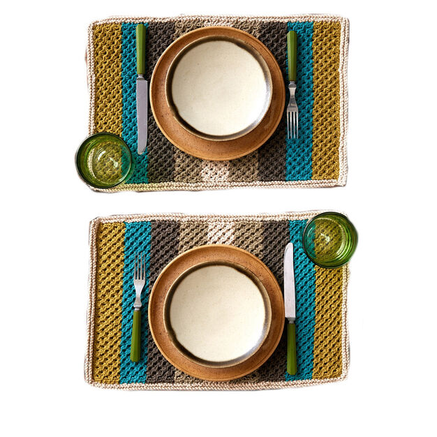 Lily Sugar'n Cream Retro Stripes Knit Placemat