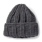 Go to Product: Patons Crochet Ridgeway Hat, Slate in color