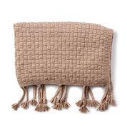 Bernat Basketweave Knit Throw